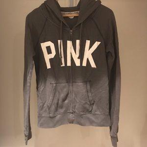 PINK vs grey zip up hoodie